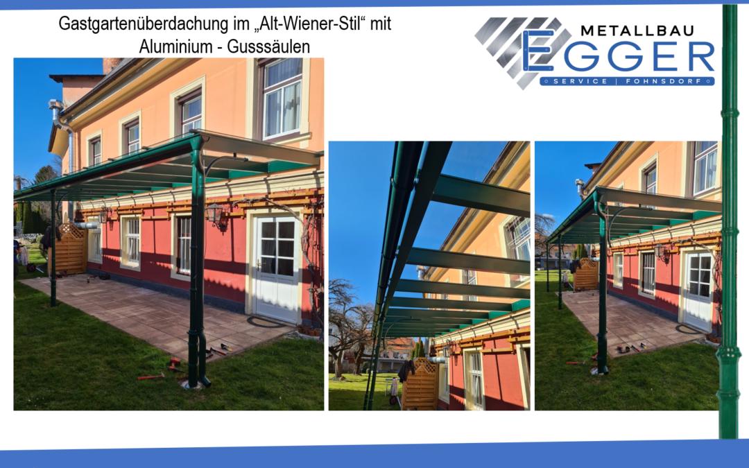 Gastgartenüberdachung im Alt Wiener Stil